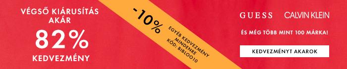 20% kedvezmény bármely termékekre